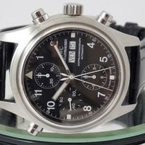 IWC Pilot Double Chronograph Acél 42mm Fekete Arab