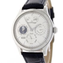 Jaeger-LeCoultre Master Eight Days Perpetual Stahl 40mm Silber Keine Ziffern