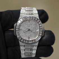 Patek Philippe Nautilus White gold 40mm Silver No numerals United States of America, Texas, Laredo