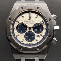 Audemars Piguet Royal Oak Chronograph Acero 41mm Blanco Sin cifras