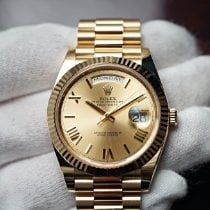 Rolex Day-Date 40 Yellow gold 40mm Champagne Roman numerals United States of America, Florida, Orlando