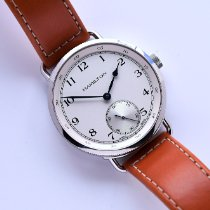Hamilton Khaki Navy Pioneer pre-owned Silver Leather