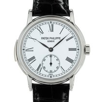 Patek Philippe Minute Repeater pre-owned 38mm White Leather