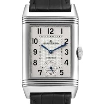 Jaeger-LeCoultre Reverso Duoface pre-owned 47mm Silver Leather