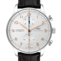 IWC Portuguese Chronograph occasion 40.9mm Argent Cuir
