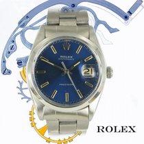 Rolex Oyster Precision Steel 35mm Blue No numerals