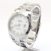 Rolex Datejust Steel 41mm White Roman numerals