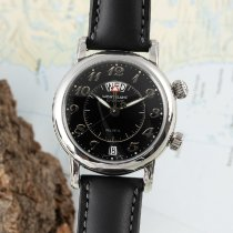 Montblanc pre-owned Automatic 37.5mm Black Sapphire crystal