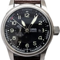 Oris Big Crown Small Second Pointer Day Stahl 44mm Schwarz Arabisch