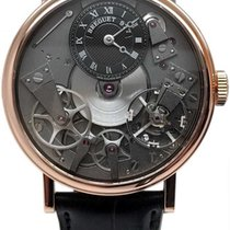Breguet Rose gold Manual winding Black 37mm Tradition