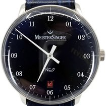 Meistersinger Steel Automatic Blue Arabic numerals 36mm pre-owned Neo