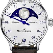 Meistersinger Lunascope Steel 40mm White Arabic numerals
