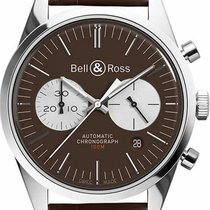 Bell & Ross Vintage BRG126-BRN-ST-SC New Steel 42mm Automatic