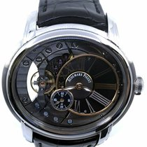 Audemars Piguet Millenary 4101 pre-owned 47mm Black Crocodile skin