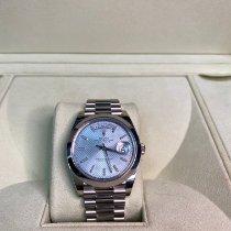 Rolex Day-Date 40 Platinum 40mm Blue Roman numerals United Kingdom, county durham