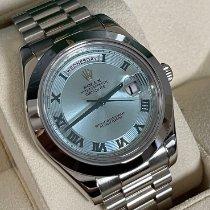 Rolex Day-Date II White gold 41mm Blue Roman numerals