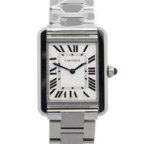 Cartier Tank Solo neu 2021 Quarz Uhr mit Original-Box und Original-Papieren W5200013