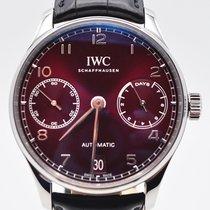 IWC nuevo Automático Tapa transparente Pequeño segundero Estado original/piezas originales 43mm Acero Cristal de zafiro