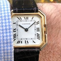Cartier Tank (submodel) Or jaune 28mm Blanc Romains France, Paris