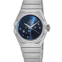 Omega Constellation Ladies Steel 27mm Blue United States of America, New York, Brooklyn