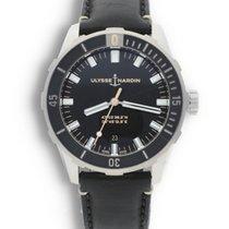 Ulysse Nardin Diver pre-owned 42mm Black Date Leather