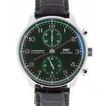 IWC Portuguese Chronograph Acier 41mm Vert Arabes