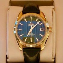 Omega Rose gold Automatic Grey No numerals 39mm pre-owned Seamaster Aqua Terra
