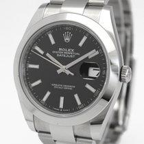 Rolex Datejust Acciaio 41mm Nero Senza numeri Italia, Milano