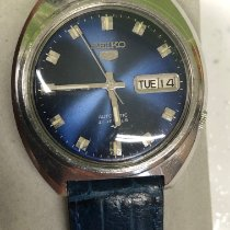 Seiko pre-owned Automatic 37.5mm Blue Mineral Glass Not water resistant