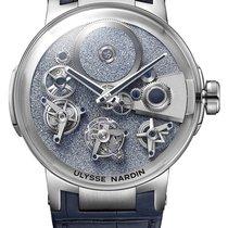 Ulysse Nardin Executive White gold 44mm Blue