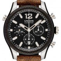 Union Glashütte Steel Automatic Black 44mm new Belisar Chronograph