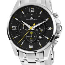 Jacques Lemans Sport Liverpool Steel 44mm Black
