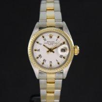 Rolex Oyster Perpetual Lady Date Acero y oro 26mm Blanco Sin cifras España, Barcelona