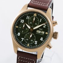 IWC Fliegeruhr Spitfire Chronograph Bronze 41mm Grün Arabisch Deutschland, Weißenhorn