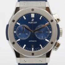 Hublot Classic Fusion Blue подержанные 45mm Синий Хронограф Дата Кожа аллигатора
