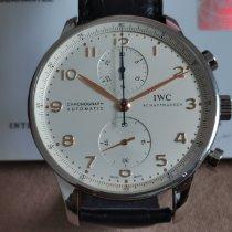 IWC Portuguese Chronograph Stal Srebrny Arabskie