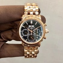 Patek Philippe Perpetual Calendar Chronograph Rose gold 40.2mm Black No numerals