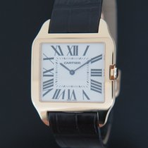 Cartier Santos Dumont Yellow gold 35mm Silver