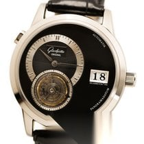 Glashütte Original PanoMaticTourbillon White gold 38.4mm Black No numerals