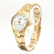 Rolex Oyster Perpetual Lady Date Yellow gold 28mm White Roman numerals