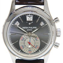 Patek Philippe Annual Calendar Chronograph Platino 40mm Negro
