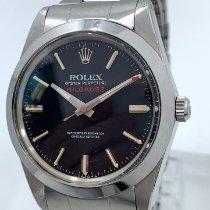 Rolex Milgauss Staal 38mm Zwart Geen cijfers