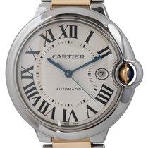 Cartier Ballon Bleu 42mm Золото/Cталь 42mm Cеребро Римские