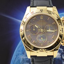 Rolex Daytona Желтое золото 40mm Перламутровый Aрабские