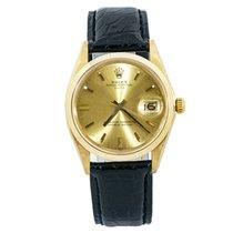 Rolex Oyster Perpetual Date 1500 Хорошее Желтое золото 34mm Автоподзавод