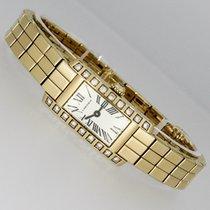 Cartier Lanières Yellow gold 18mm Silver Roman numerals