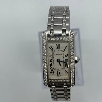Cartier Tank Américaine White gold 19mm Champagne Roman numerals United States of America, New Jersey, Verona