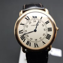 Cartier Ronde Louis Cartier Pозовое золото 35mm Белый Римские