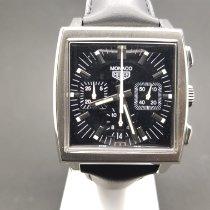 TAG Heuer Monaco Steel 38mm Black No numerals