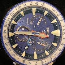 Seiko Marinemaster Titanium 45mm Blue No numerals